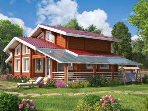 Дом из бруса 210м