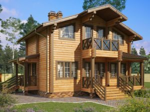Дом из бруса 98м