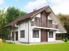 Дом из бруса 189м