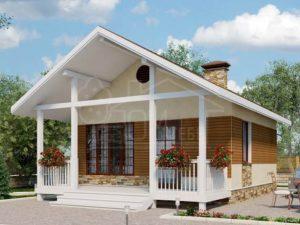 Каркасный дом 45м