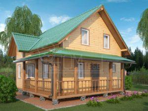 Каркасный дом 117м