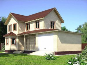 Каркасный дом 116м