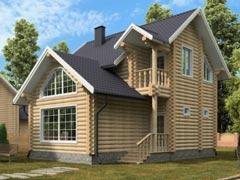 Дом из бревна 135м