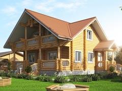 Дом из бревна 184м