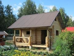 Дом из бревна 27м