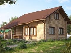 Дом из бревна 150м
