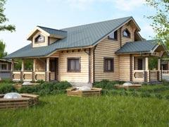 Дом из бревн188м