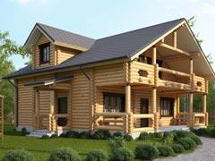 Дом из бревна 170м
