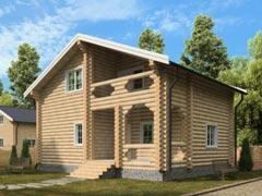 Дом из бревна 144м