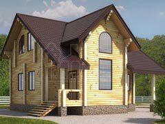 Дом из бруса 128м