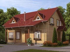 Каркасный дом 193м