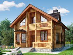 Дом из бревна 156м