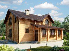 Дом из бревна 148м
