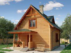 Дом из бревна 90м