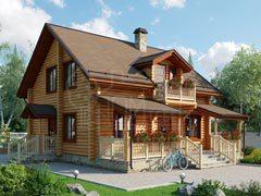 Дом из бревна 151м