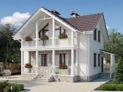 Каркасный дом 110м