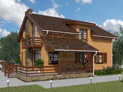 Каркасный дом 183м
