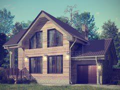 Каркасный дом 103м