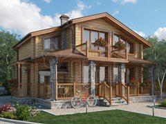 Дом из бруса 105м