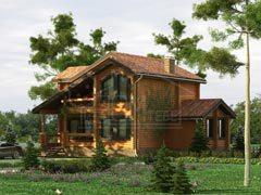Дом из бревна 145м