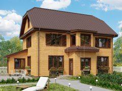Каркасный дом 166м