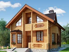 Дом из бревна 220м