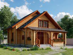 Дом из бревна 92м