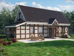 Каркасный дом 190м