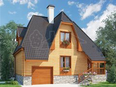 Дом из бруса 97м