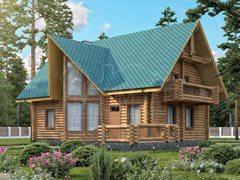 Дом из бревна 185м