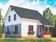 Дом из бруса 110м