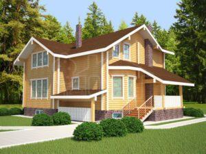 Дом из бруса 193м
