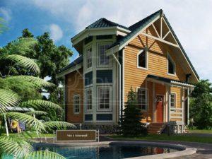 Дом из бруса 104м