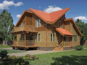 Дом из бревна 164м