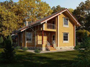 Дом из бревна 185,6
