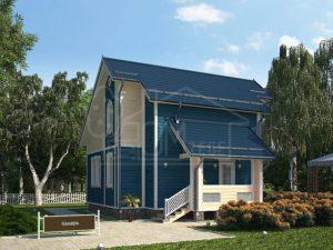 Дом из бруса 102м