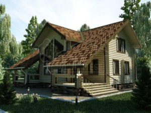 Дом из бревна 152,3м