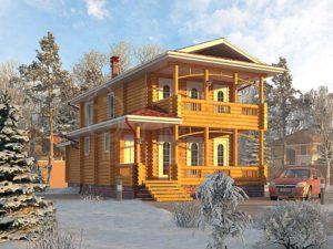 Дом из бревна 145,7м