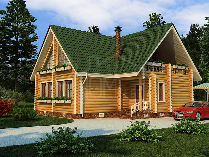 Дом из бревна 168м