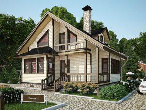 Дом из бруса 101м