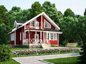 Дом из бруса 103м