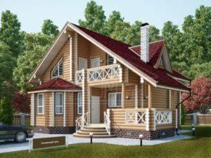 Дом из бревна 137,3м