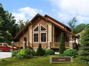 Дом из бревна 140м
