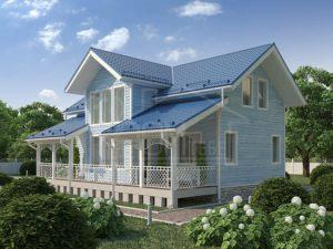 Дом из бруса 162м