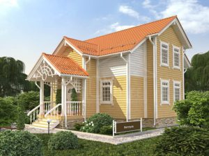 Дом из бруса 126м