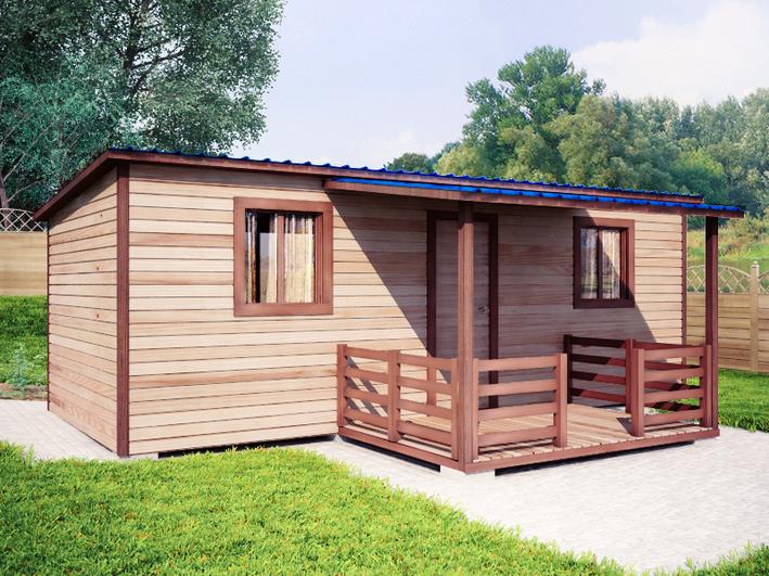 Садовый домик 3х7м