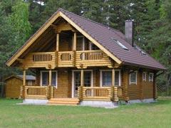 Дом из бревна 86,7м