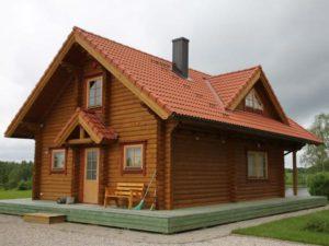 Дом-баня из бревна 93,6м