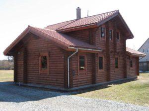 Дом из бревна 91м