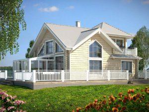Дом из бруса 100м